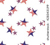 pattern of_star with american... | Shutterstock .eps vector #428343199