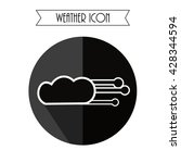 cloud with wind icon. weather...