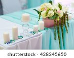 wedding table decorations in... | Shutterstock . vector #428345650