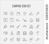 camping icons.  backpack  axe ... | Shutterstock .eps vector #428352820