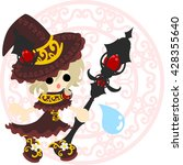 the stylish and pretty witch... | Shutterstock .eps vector #428355640