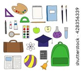 hand drawn school and... | Shutterstock .eps vector #428356339