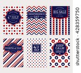 happy independence day  set of... | Shutterstock .eps vector #428359750