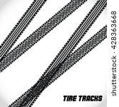 background tire tracks.   Shutterstock .eps vector #428363668