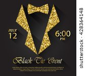 black tie event invitation ... | Shutterstock .eps vector #428364148