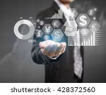 businessman with financial... | Shutterstock . vector #428372560