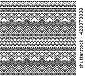 seamless boho pattern. tribal... | Shutterstock .eps vector #428373838