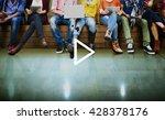 play media audio video music... | Shutterstock . vector #428378176