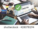 accomplished achieved approve... | Shutterstock . vector #428378194