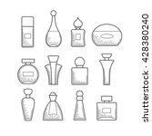 simple perfume bottles vector... | Shutterstock .eps vector #428380240