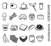 basic breakfast icons set | Shutterstock .eps vector #428382448