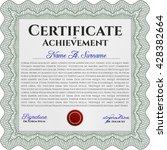 certificate template eps10 jpg... | Shutterstock .eps vector #428382664