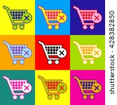 shopping cart and x mark icon ...   Shutterstock .eps vector #428382850