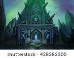 dark temple. video game's... | Shutterstock . vector #428383300