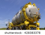oil spill response  vacuum... | Shutterstock . vector #428383378