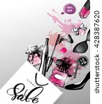beauty and cosmetics background.... | Shutterstock .eps vector #428387620