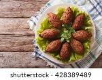 arabic cuisine  meat appetizer... | Shutterstock . vector #428389489
