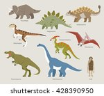 age of dinosaur   various kinds ... | Shutterstock .eps vector #428390950