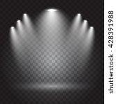 bright lighting with spotlights | Shutterstock .eps vector #428391988