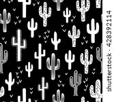 fun western cactus seamless... | Shutterstock .eps vector #428392114