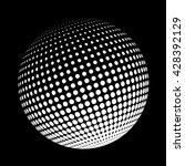 halftone logo template. white... | Shutterstock . vector #428392129