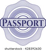 passport linear rosette | Shutterstock .eps vector #428392630