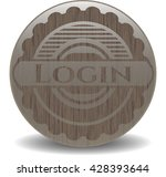login retro wood emblem | Shutterstock .eps vector #428393644