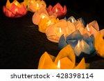 beautiful flower garlands and... | Shutterstock . vector #428398114