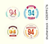 94 years anniversary set with... | Shutterstock .eps vector #428399176