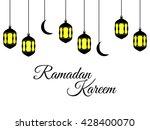 ramadan kareem  lantern and...   Shutterstock .eps vector #428400070