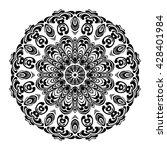 mandala. black round ornament.... | Shutterstock .eps vector #428401984