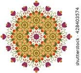 vector mandala. set of... | Shutterstock .eps vector #428403574