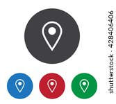 location icon | Shutterstock .eps vector #428406406