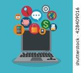 mobile tools icon set design | Shutterstock .eps vector #428409016