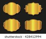 golden label.vector gold badge.   Shutterstock .eps vector #428412994