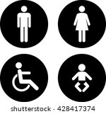 toilet sign. | Shutterstock . vector #428417374