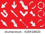 arrow vector line.arrow red... | Shutterstock .eps vector #428418820