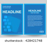 abstract blue flyers brochure... | Shutterstock .eps vector #428421748