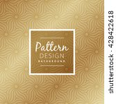 beautiful premium style pattern | Shutterstock .eps vector #428422618