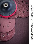 Small photo of Grinding wheels holder on polishing paper abrasive tools.