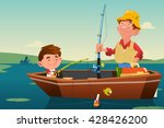 a vector illustration of father ... | Shutterstock .eps vector #428426200
