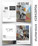 set of business templates for... | Shutterstock .eps vector #428428906