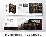 vector set of tri fold...   Shutterstock .eps vector #428428960