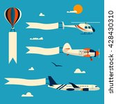 vector set of flying balloon ... | Shutterstock .eps vector #428430310