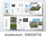 vector set of tri fold... | Shutterstock .eps vector #428430733