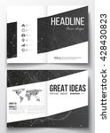 set of business templates for... | Shutterstock .eps vector #428430823