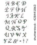 Vintage Floral Typography Font...