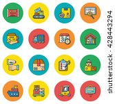 icon set logistic vector | Shutterstock .eps vector #428443294