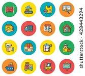 icon set logistic vector | Shutterstock .eps vector #428443294