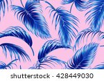 tropical palm leaves seamless... | Shutterstock .eps vector #428449030